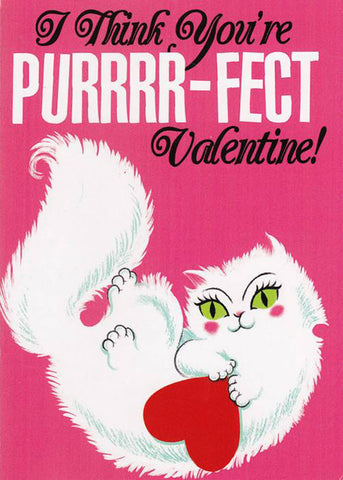 Sourpuss Greeting Card Purr-fect