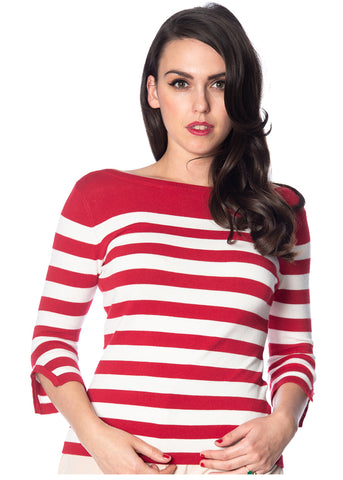Banned Sail Away 50's Jumper Red
