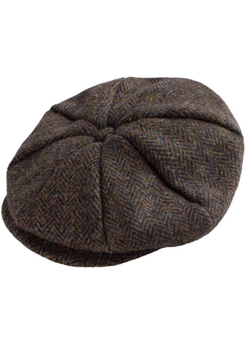 Gibson London Baker Harris Tweed Cap Green