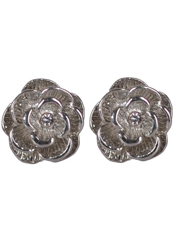 Succubus Silver Rose Earrings Silver