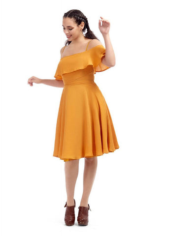 Bright & Beautiful Darcy 70's Dress Orange
