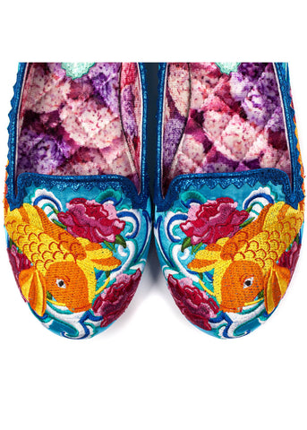Irregular Choice Pescado Oro Fish Flats Blue