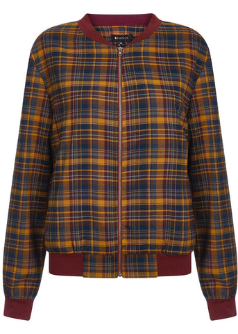Bright & Beautiful Tara Highland Tartan Jacket Orange