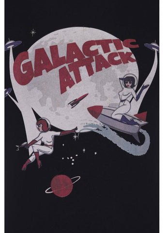 Collectif Galactic Attack T-Shirt Black