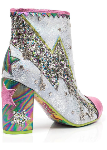 Irregular Choice Major Tom Booties Pink and White.