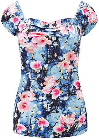 Joe Browns Summer Days Vintage Top Blue