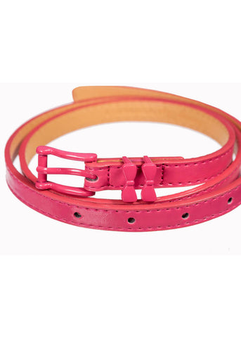 Banned Come Back Bow 50's Belt Hot Pink