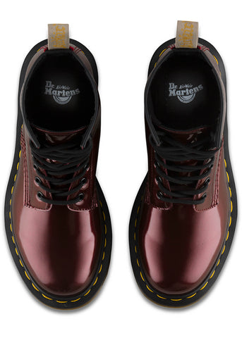 Dr. Martens 1460 Vegan Chrome Lace-up Boots Oxblood Red