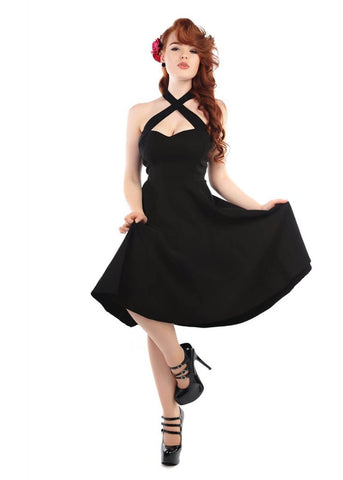 Collectif Penny 50's Swing Dress Black