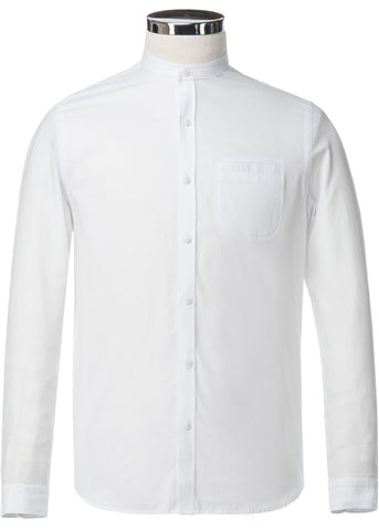 Gibson London Grandad Shirt White