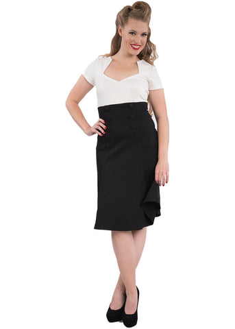 Rock Steady Nora Fit & Flare Skirt Black Color