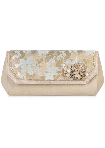 Ruby Shoo Phoenix Clutch Rose Gold Color