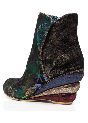Irregular Choice Womans Vote Booties Blue