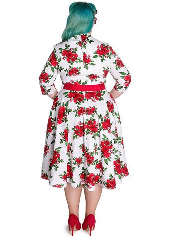 Hell Bunny Eternity 50's Swing Dress White