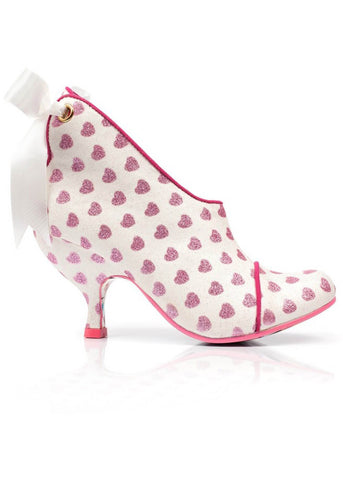 Irregular Choice Love is All Around Booties White