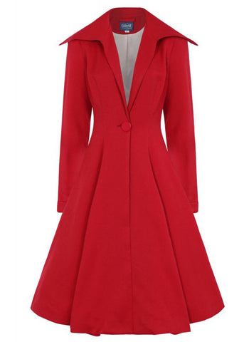 Collectif Bobbie 50's Swing Coat Red