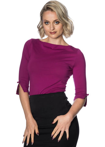 Banned Oonagh 50's Top Purple