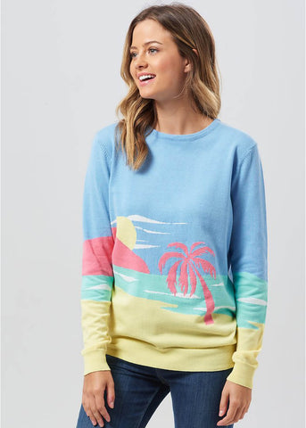 Sugarhill Boutique Katy's Life's A Beach Sweater Multi