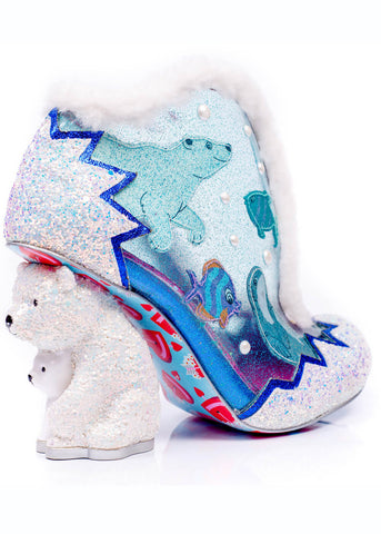 Irregular Choice Fuzzy McFrosty Boots Silver Multi