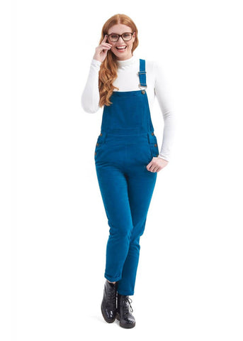 Bright & Beautiful Jamie Corduroy Dungaree Teal Color