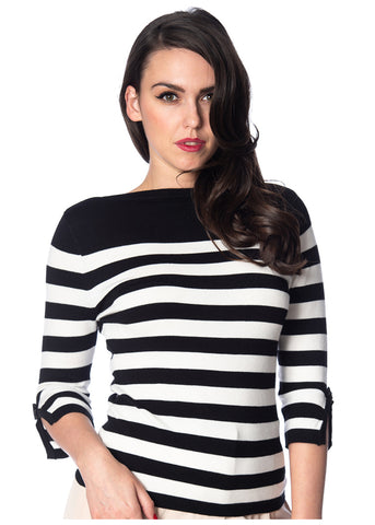 Banned Sail Away 50's Jumper Black