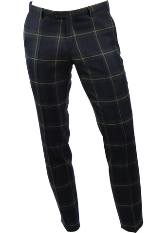 Club of Gents Cedric Tartan Trousers Green