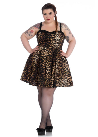 Hell Bunny Panthera Mini Dress Leopard