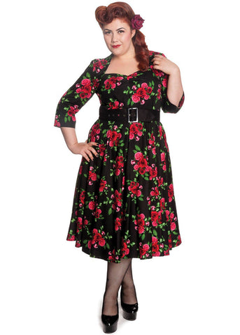 Hell Bunny Eternity 50's Swing Dress Black