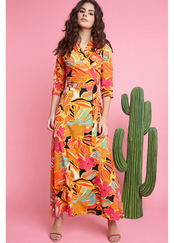 Onjenu Marisa Tropicala 70's Maxi Dress