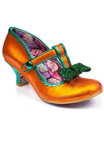 Irregular Choice Lazy River Pumps Orange