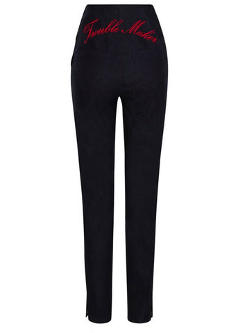 Collectif Tara Trouble Maker Trousers Navy