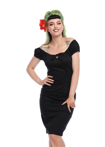 Collectif Lorena 50's Pencil Dress Black