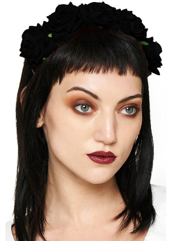 Banned Lilian Rose Headband Black