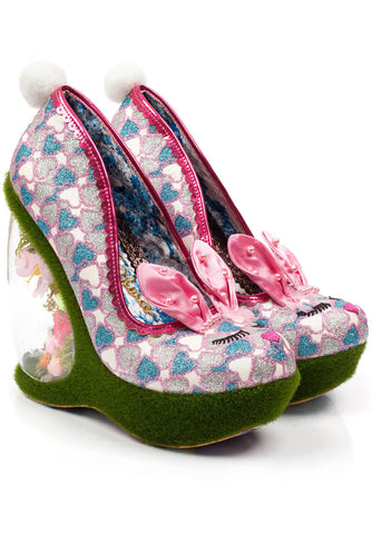 Irregular Choice Hop 2 It Wedges Pink
