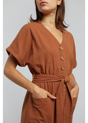 Louche Percy 60's Jumpsuit Rust