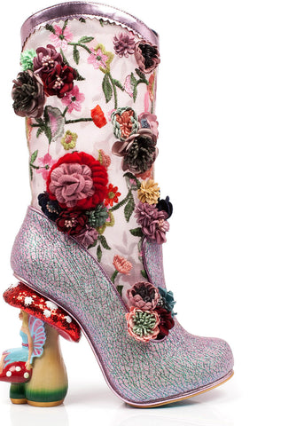 Irregular Choice Angela Pearson Mushroom Boots Pink