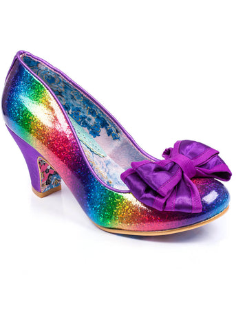 Irregular Choice Lady Ban Joe Rainbow Pumps Glitter