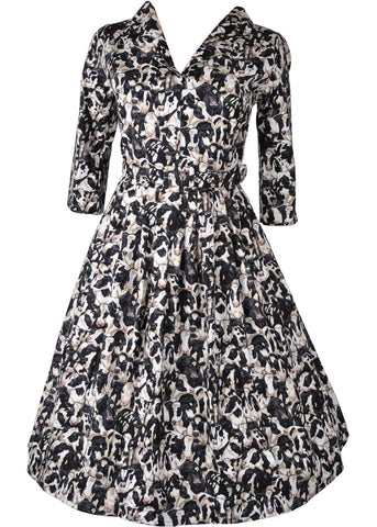Victory Parade Shirley Cows 40's Swing Dress