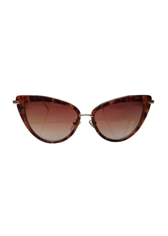 Collectif Dita Cateye Sunglasses Tortoise Gold