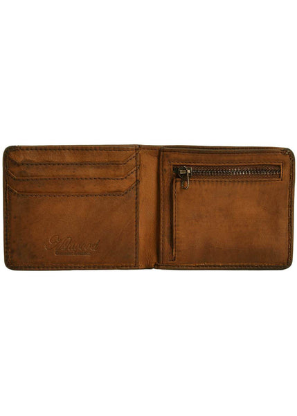Ashwood Logan Leather Wallet Brown