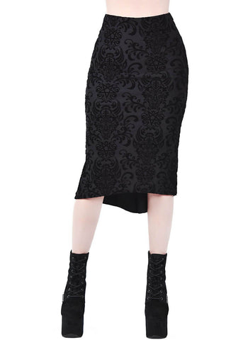 Killstar Bloodlust Pencil Skirt Black