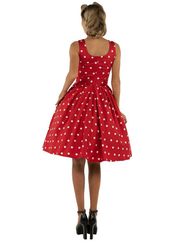 Dolly & Dotty Amanda Polkadot 50's Swing Dress Red White
