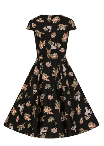 Hell Bunny Messina 50's Swing Dress Black