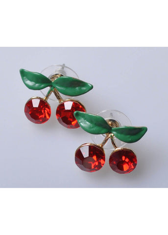 Succubus Crystal Cherry Earrings