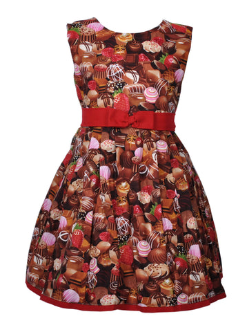 Victory Parade Kids Choc Swing Dress