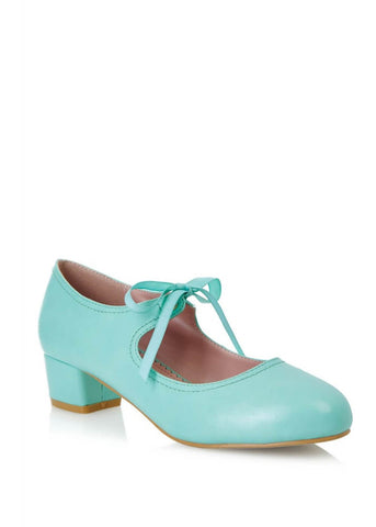 Lulu Hun Corinne 60's Block Heel Pumps Mint