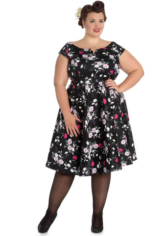 Hell Bunny Belinda 50's Swing Dress Black