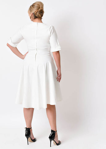 Unique Vintage Delores Dress Ivory