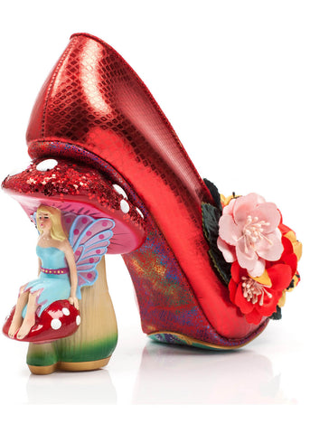 Irregular Choice Ember Starwand Mushroom Pumps Red
