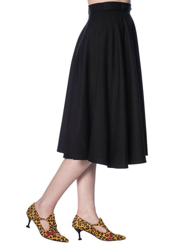 Banned Di Di 50's Swing Skirt Black